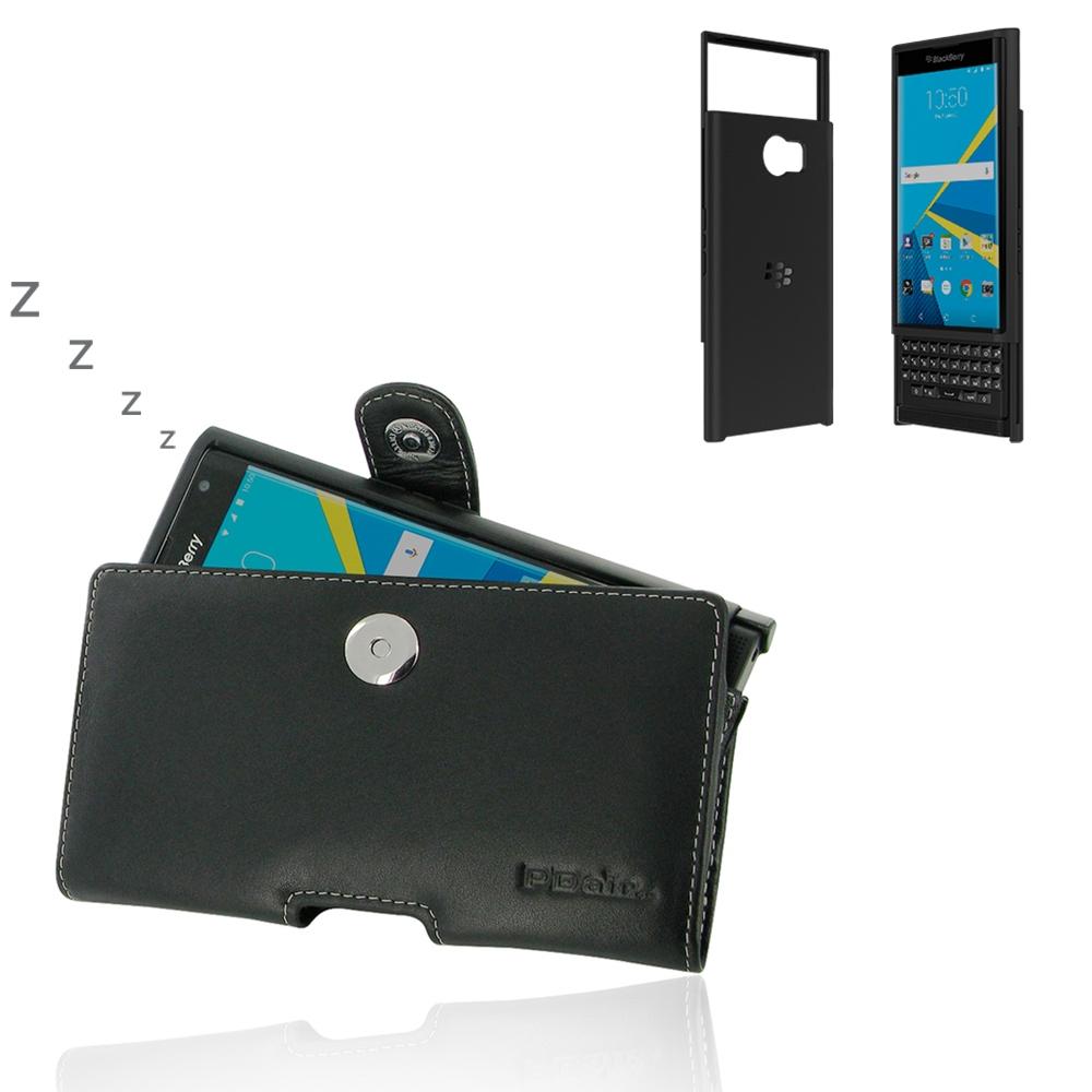 Hard shell travel case - Blackberry Priv In Slide Out Hard Shell Leather Holster