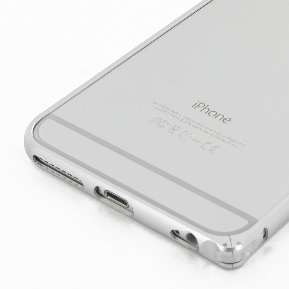 iphone 6 6s plus aluminum metal bumper case silver pdair. Black Bedroom Furniture Sets. Home Design Ideas