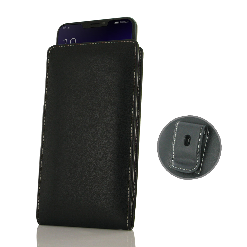 online store 2705d f38ac Leather Vertical Pouch Belt Clip Case for Asus Zenfone 5 ZE620KL (2018)