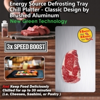 Classic Design (630g) by 3x - 5x Speed Boost  -  3x - 5x times thawing speed of the general defrosting trays (i.e. such as Vonshef  or Evelots Rapid ) 7x-12x Speed Faster than natural thawing on the kitchen counter.