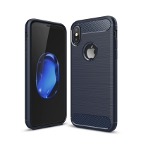 Carbon Fiber Case for Apple iPhone X | iPhone 10 (Deep blue)