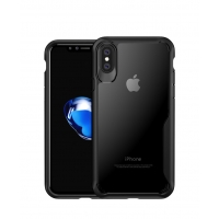 Super Series Ultra Thin HD transparent PC Case for Apple iPhone X | iPhone 10 (Black)