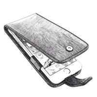 PDair Designs iPhone 7 Plus Flip Case, Smart Flip Cover