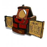PDair Oriental Dressing Jewellery Box and China Chess Game Set