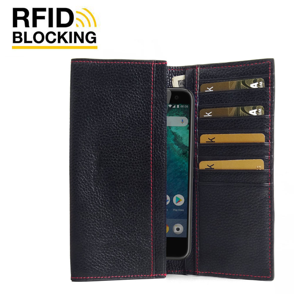 10% OFF + FREE SHIPPING, Buy the BEST PDair Handcrafted Premium Protective Carrying  HTC U11 Life Leather Continental Sleeve Wallet (Red Stitching). Exquisitely designed engineered for  HTC U11 Life.