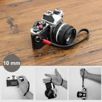 10mm Black Spain Leather Camera Wrist Grip Strap / Camera Hand Grip for Micro-single Camera