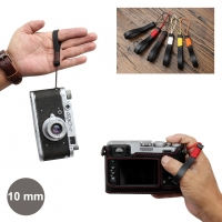 10mm Black Spain Leather Camera Finger Strap for Micro-single Camera