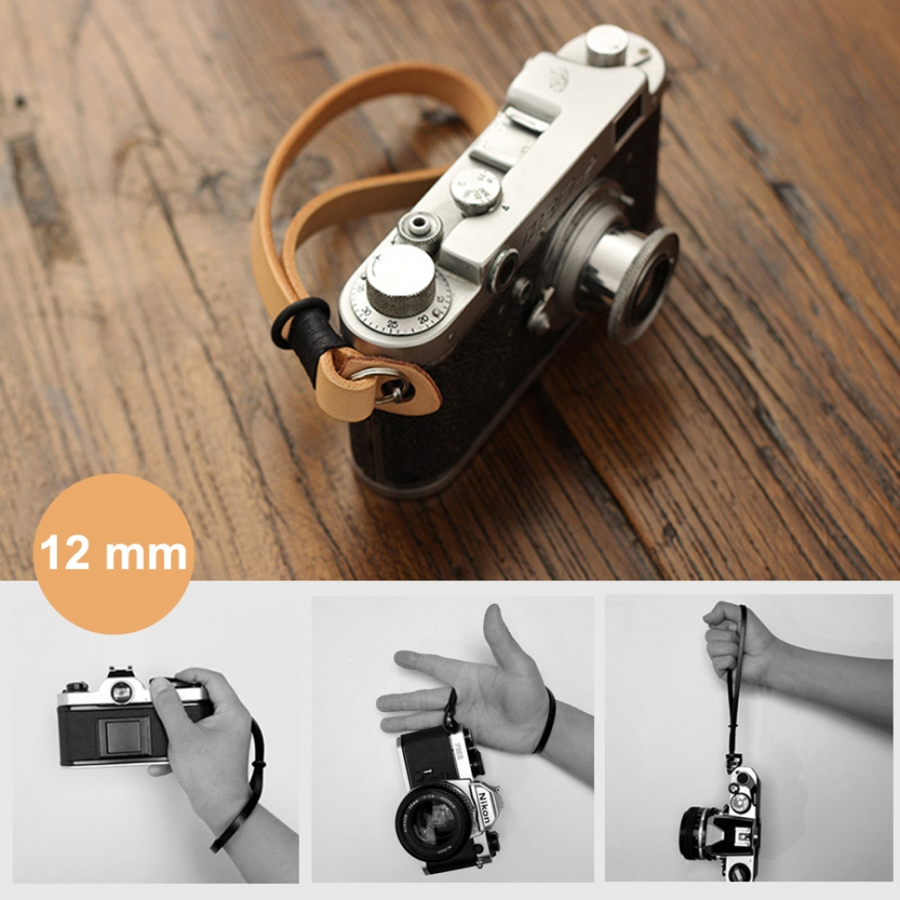 10% OFF + FREE SHIPPING, Buy Best PDair Quality 12mm Black Genuine French Genuine Leather Micro-single Camera Wrist Grip Strap online. Designed for Camera. You also can go to the customizer to create your own stylish leather case if looking for additional