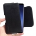 Samsung Galaxy S9 Plus Leather Holster Pouch Case (Black Stitch) protective carrying case by PDair