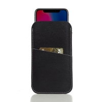 Simple Leather Card Holder Pouch Case for Apple iPhone X