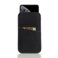 Simple Leather Card Holder Pouch Case for Apple iPhone XS