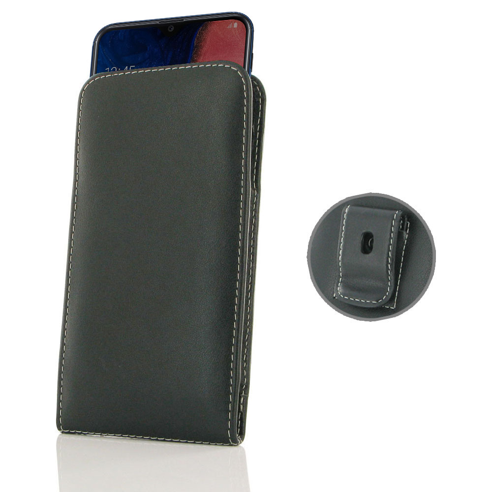 10% OFF + FREE SHIPPING, Buy the BEST PDair Handcrafted Premium Protective Carrying Samsung Galaxy A20 Pouch Case with Belt Clip. Exquisitely designed engineered for Samsung Galaxy A20.
