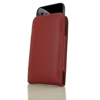 Leather Vertical Pouch Case for Apple iPhone XS (in Slim Case/Cover) (Red)