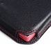Sony Xperia Z5 Compact Leather Wallet Sleeve Case (Red Stitch) custom degsined carrying case by PDair