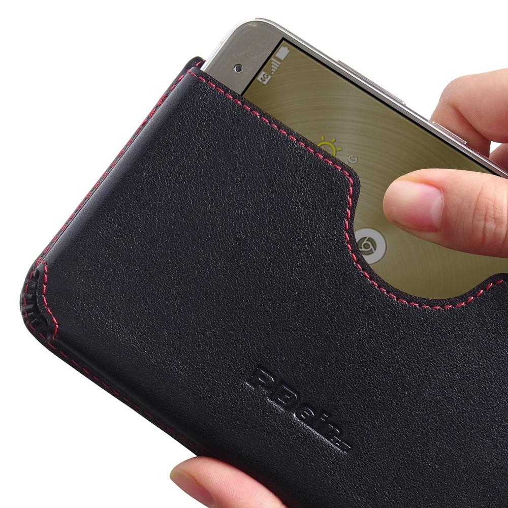 asus zenfone 3 ze520kl leather wallet sleeve case red. Black Bedroom Furniture Sets. Home Design Ideas