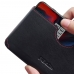 OnePlus 6 Leather Wallet Sleeve Case (Red Stitch) handmade leather case by PDair