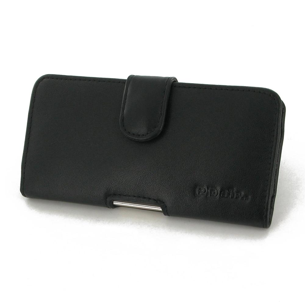 asus zenfone 3 ze520kl leather holster case black stitch. Black Bedroom Furniture Sets. Home Design Ideas