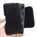 Nokia 5.1 Plus Leather Holster Pouch Case (Black Stitch) handmade leather case by PDair