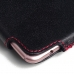 OPPO R9 Leather Holster Pouch Case (Red Stitch) custom degsined carrying case by PDair