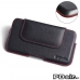 OPPO R9 Leather Holster Pouch Case (Red Stitch) best cellphone case by PDair