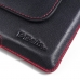 BlackBerry Priv Leather Holster Pouch Case (Red Stitch) offers worldwide free shipping by PDair