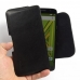 Moto X Play Leather Holster Pouch Case (Black Stitch) genuine leather case by PDair