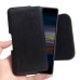 Sony Xperia L3 Leather Holster Pouch Case (Black Stitch) handmade leather case by PDair