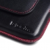 Moto X Play Leather Holster Pouch Case (Red Stitch) offers worldwide free shipping by PDair