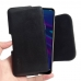 Huawei Enjoy 9e Leather Holster Pouch Case (Black Stitch) handmade leather case by PDair