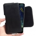LG V50 ThinQ 5G Leather Holster Pouch Case (Black Stitch) handmade leather case by PDair