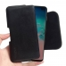 Samsung Galaxy S10 Plus (in Slim Cover) Leather Holster Pouch Case (Black Stitch) handmade leather case by PDair