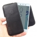 Sony Xperia X Compact Leather Holster Pouch Case (Black Stitch) genuine leather case by PDair
