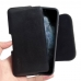 iPhone 11 Pro (in Slim Cover) Leather Holster Pouch Case (Black Stitch) handmade leather case by PDair