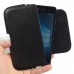Microsoft Lumia 950 Leather Holster Pouch Case (Black Stitch) genuine leather case by PDair