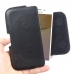Samsung Galaxy On5 2016 Leather Holster Pouch Case Black Stitch genuine leather case by PDair