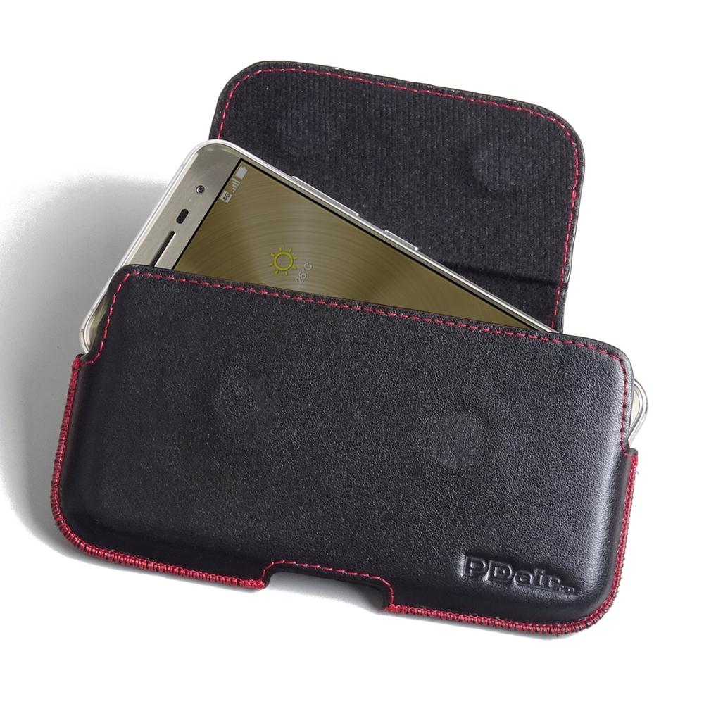 asus zenfone 3 ze520kl leather holster pouch case red. Black Bedroom Furniture Sets. Home Design Ideas
