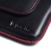 Samsung Galaxy C5 Leather Holster Pouch Case (Red Stitch) offers worldwide free shipping by PDair