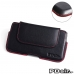 ZTE Axon mini Leather Holster Pouch Case (Red Stitch) best cellphone case by PDair