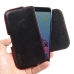 ZTE Blade V7 / Small Fresh 4 Leather Holster Pouch Case (Red Stitch) genuine leather case by PDair