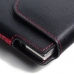 BlackBerry Passport AT&T Leather Holster Pouch Case (Red Stitch) top quality leather case by PDair