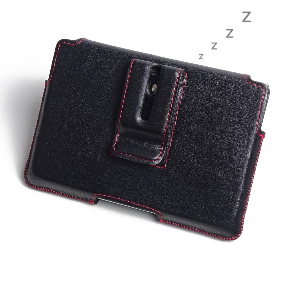blackberry passport leather holster pouch case red stitch