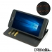 Microsoft Lumia 950 Leather Smart Flip Wallet Case (Orange Stitch) best cellphone case by PDair