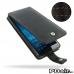 Microsoft Lumia 950 Leather Flip Wallet Case (Orange Stitch) protective stylish skin case by PDair