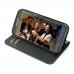 Samsung Galaxy S7 edge Leather Smart Flip Wallet Case (Purple Stitch) genuine leather case by Pdair