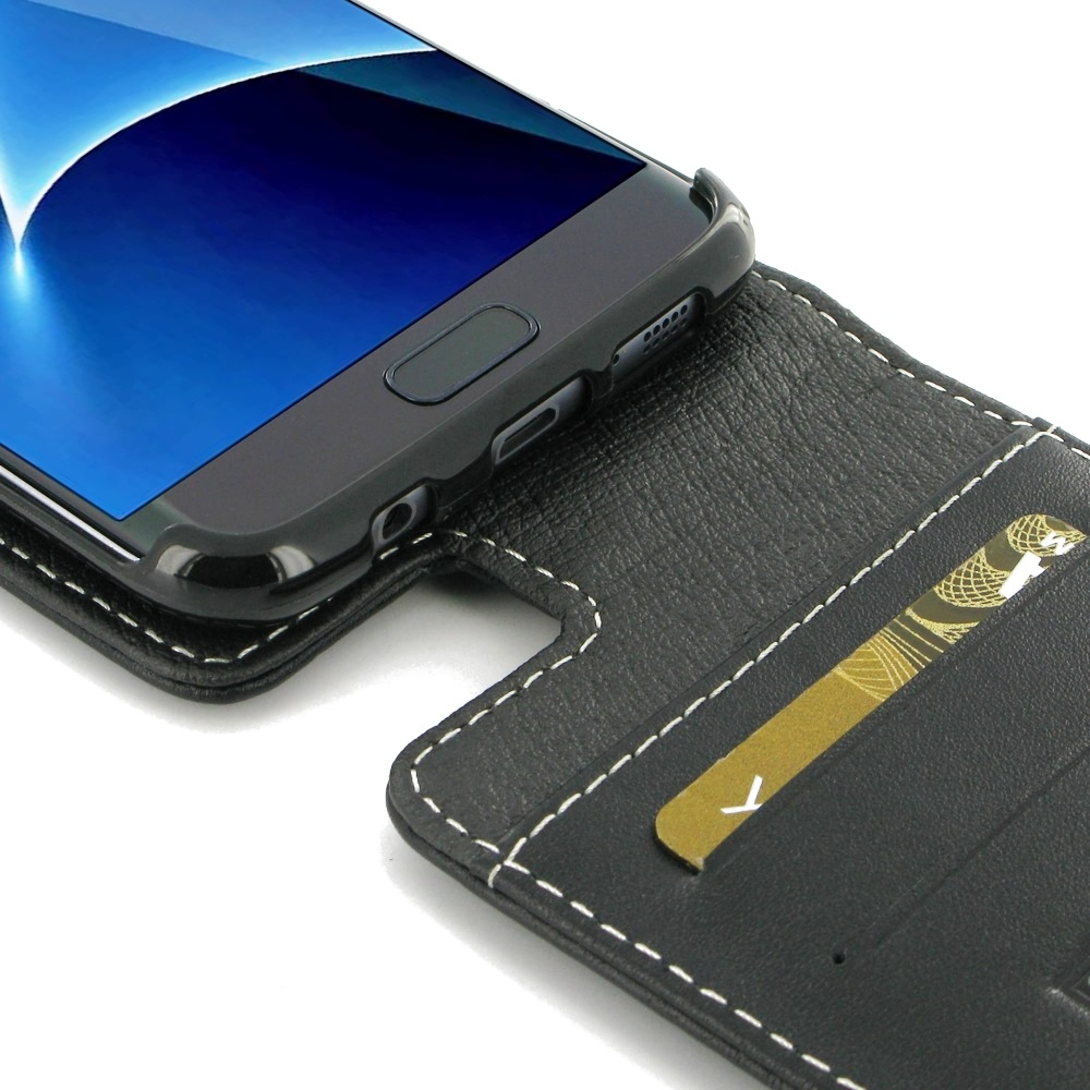 newest 5064f 79772 Leather Flip Top Wallet Case for Samsung Galaxy S7 edge