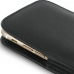 iPhone 8 Plus Pouch Case with Belt Clip (Black Stitch) genuine leather case by PDair