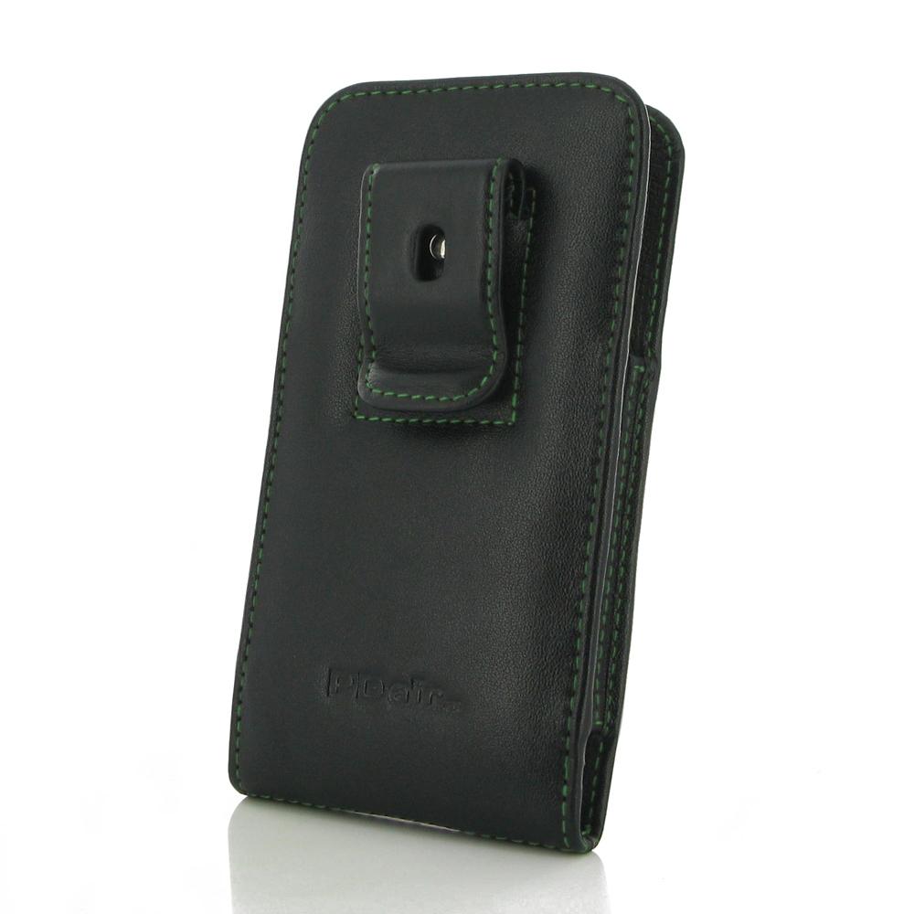 Samsung Galaxy J3 Pouch Case With Belt Clip Purple Stitch