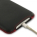 iPhone 6 6s Plus Luxury Pouch Case with Belt Clip (Red Stitch) genuine leather case by PDair