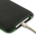 iPhone 8 Luxury Pouch Case with Belt Clip (Green Stitch) genuine leather case by PDair