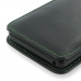 Microsoft Lumia 950 Leather Sleeve Pouch Case (Green Stitch) genuine leather case by PDair